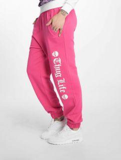 Thug Life / Sweat Pant Grea in pink