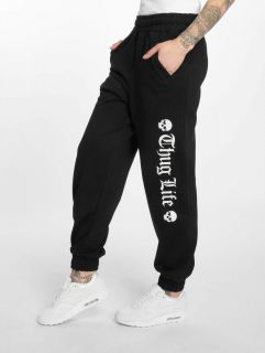 Thug Life / Sweat Pant Grea in black