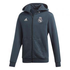 Real Madrid Full Zip Hoody - Grey - Kids