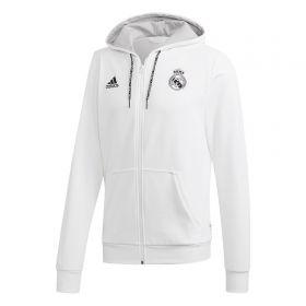 Real Madrid Full Zip Hoody - White