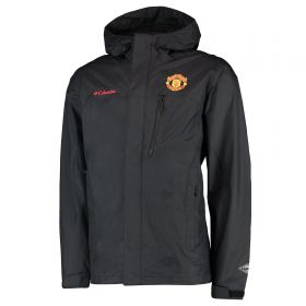Manchester United Columbia Pouring Adventure Jacket - Black - Mens
