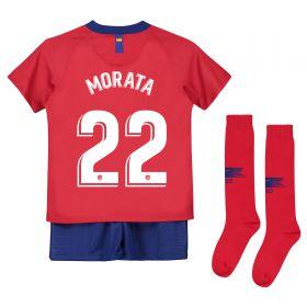 Atlético de Madrid Home Stadium Kit 2018-19 - Little Kids with Morata 22 printing
