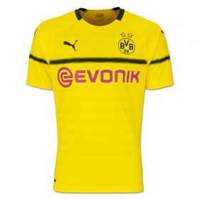 BVB Cup Home Shirt 2018-19 - Kids with Pulisic 22 printing