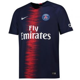 Paris Saint-Germain Home Stadium Shirt 2018-19 with Juan Bernat 14 printing