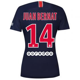 Paris Saint-Germain Home Vapor Match Shirt 2018-19 - Womens with Juan Bernat 14 printing