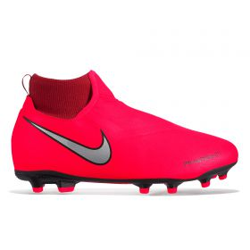 Nike Phantom Vision Academy Dynamic Fit Multi-Ground Football Boots - Red - Kids