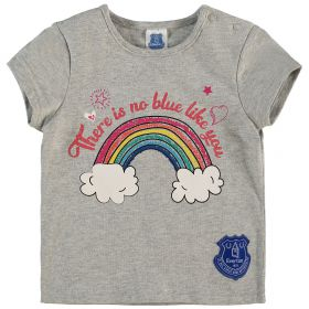 Everton Infant Glitter T Shirt - Grey Marl - Girls