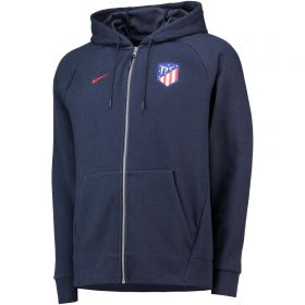 Atlético de Madrid Venue Full Zip Hoodie - Dark Blue