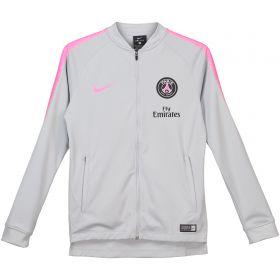 Paris Saint-Germain Squad Tracksuit - Grey - Kids