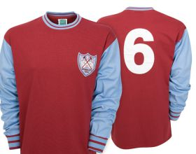 West Ham Utd 1964 FA Cup Final No.6 Shirt - Claret/Blue