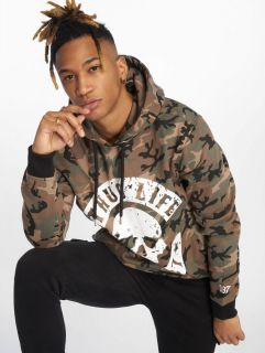 Thug Life / Hoodie B.Distress in camouflage