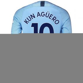 Manchester City Home Stadium Shirt 2018-19 - Long Sleeve with Kun Agüero 10 printing