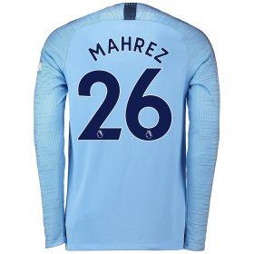 Manchester City Home Stadium Shirt 2018-19 - Long Sleeve with Mahrez 26 printing