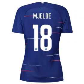 Chelsea Home Stadium Cup Shirt 2018-19 - Womens with Mjelde 18 printing