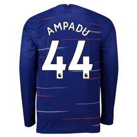 Chelsea Home Stadium Shirt 2018-19 - Long Sleeve with Ampadu 44 printing