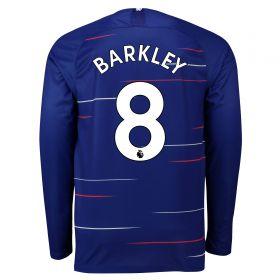 Chelsea Home Stadium Shirt 2018-19 - Long Sleeve with Barkley 8 printing