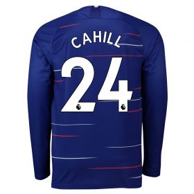 Chelsea Home Stadium Shirt 2018-19 - Long Sleeve with Cahill 24 printing