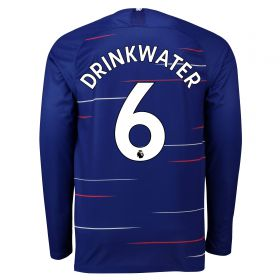 Chelsea Home Stadium Shirt 2018-19 - Long Sleeve with Drinkwater 6 printing