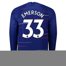 Chelsea Home Stadium Shirt 2018-19 - Long Sleeve with Emerson 33 printing