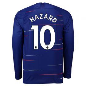 Chelsea Home Stadium Shirt 2018-19 - Long Sleeve with Hazard 10 printing