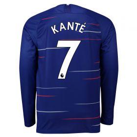 Chelsea Home Stadium Shirt 2018-19 - Long Sleeve with Kanté 7 printing