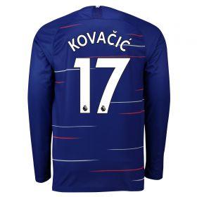 Chelsea Home Stadium Shirt 2018-19 - Long Sleeve with Kovacic 17 printing