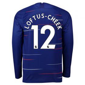 Chelsea Home Stadium Shirt 2018-19 - Long Sleeve with Loftus-Cheek 12 printing
