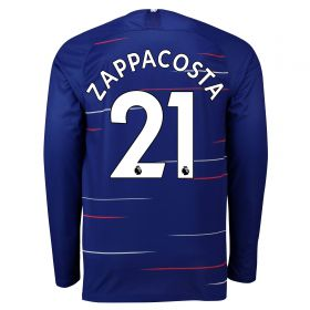 Chelsea Home Stadium Shirt 2018-19 - Long Sleeve with Zappacosta 21 printing