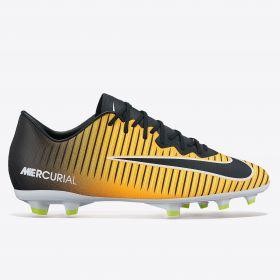 Nike Mercurial Vapor XI Firm Ground Football Boots - Laser Orange/Black/White/Volt - Kids