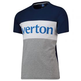 Everton Cut And Sew T-Shirt - Navy - Mens