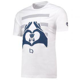 Everton Heart Hands Lucas Digne T Shirt - White - Mens