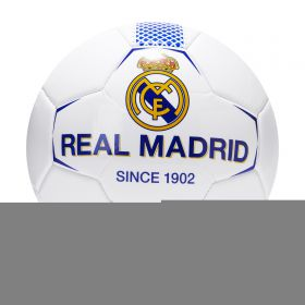Real Madrid Crest Football - Size 5 - White