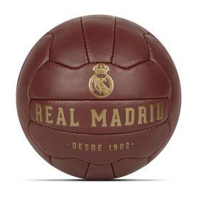 Real Madrid Crest Heritage Football - Size 5