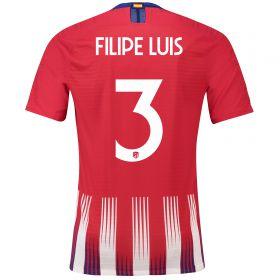 Atlético de Madrid Home Cup Vapor Match Shirt 2018-19 with Filipe Luis 3 printing