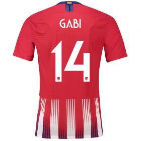 Atlético de Madrid Home Cup Vapor Match Shirt 2018-19 with Gabi 14 printing