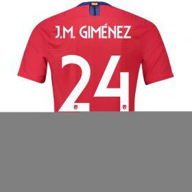 Atlético de Madrid Home Cup Vapor Match Shirt 2018-19 with J.M. Giménez 24 printing