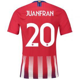 Atlético de Madrid Home Cup Vapor Match Shirt 2018-19 with Juanfran 20 printing