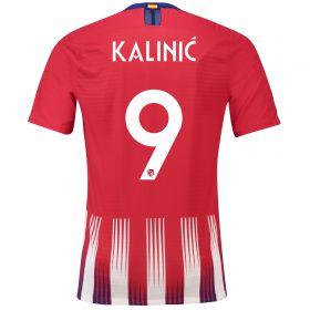 Atlético de Madrid Home Cup Vapor Match Shirt 2018-19 with Kalinic 9 printing