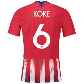 Atlético de Madrid Home Cup Vapor Match Shirt 2018-19 with Koke 6 printing