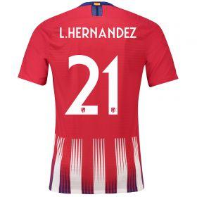 Atlético de Madrid Home Cup Vapor Match Shirt 2018-19 with Lucas 19 printing