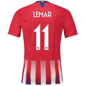 Atlético de Madrid Home Cup Vapor Match Shirt 2018-19 with Lemar 11 printing