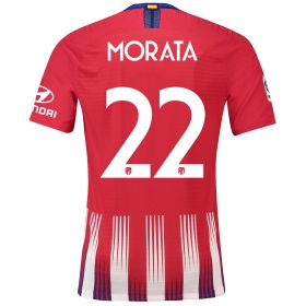 Atlético de Madrid Home Cup Vapor Match Shirt 2018-19 with Morata 22 printing