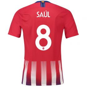 Atlético de Madrid Home Cup Vapor Match Shirt 2018-19 with Saúl 8 printing