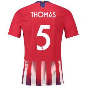 Atlético de Madrid Home Cup Vapor Match Shirt 2018-19 with Thomas 5 printing