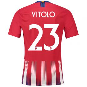 Atlético de Madrid Home Cup Vapor Match Shirt 2018-19 with Vitolo 23 printing