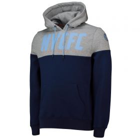 New York City FC Cut And Sew OH Hoodie - Navy - Mens