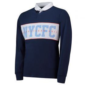 New York City FC Cut And Sew Rugby Shirt - Navy - Mens
