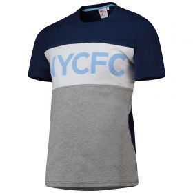 New York City FC Cut And Sew T-Shirt - Navy - Mens