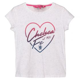 Chelsea Speckle Print T-Shirt - White - Infant Girls