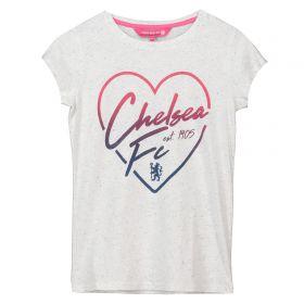 Chelsea Speckle Print T-Shirt - White - Older Girls
